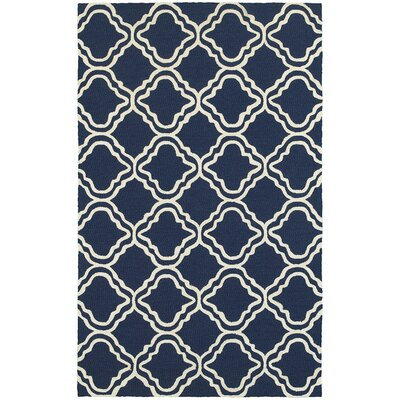 Atrium Trellis Panel Blue & Ivory Indoor/Outdoor Area Rug Rug Size: Rectangle 36 x 56