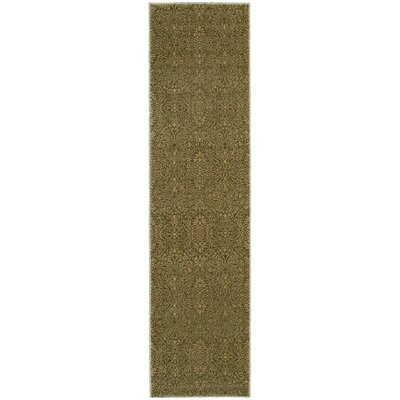 Tommy Bahama Voyage Green / Beige Floral Rug Rug Size: Rectangle 110 x 33