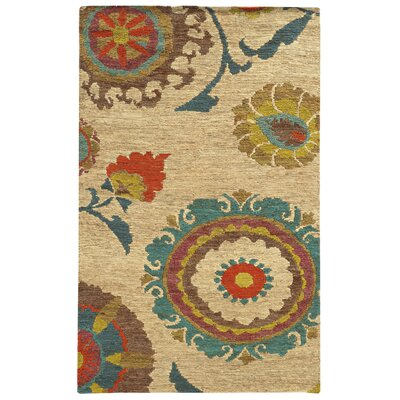 Tommy Bahama Valencia Beige / Multi Floral Rug Rug Size: Rectangle 5 x 8