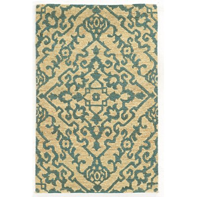 Tommy Bahama Valencia Beige / Blue Geometric Rug Rug Size: Rectangle 36 x 56