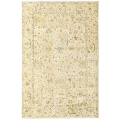 Palace Hand-Knotted Beige Area Rug Rug Size: Rectangle 9 x 12