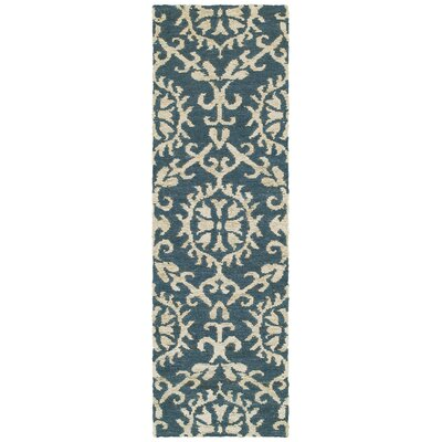 Tommy Bahama Valencia Navy / Beige Floral Rug Rug Size: Runner 26 x 8