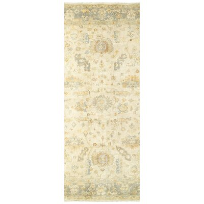 Palace Hand-Knotted Beige/Gray Area Rug Rug Size: Runner 26 x 10