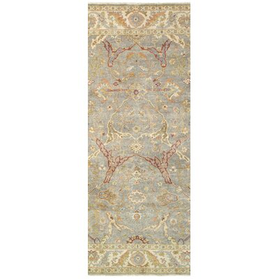 Palace Hand-Knotted Gray/Beige Area Rug Rug Size: Runner 26 x 10