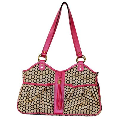 Espresso Dot Metro Pet Carier Color: Rose, Size: Small (9 H x 8 W x 17 L)