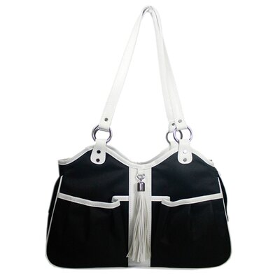 Metro Classicte Pet Carier Size: Small (9 H x 8 W x 17 L), Color: Black and White