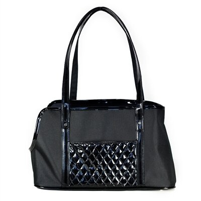 Ella Summer Tote Pet Carier Color: Black and Black
