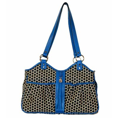 Espresso Dot Metro Pet Carier Size: Small (9 H x 8 W x 17 L), Color: Cobalt