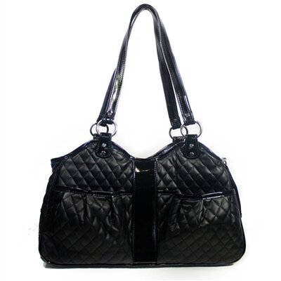 "Metro Quilted Luxe Pet Carrier Size: Petite (7.75"" H x 5"" W x 13"" L), Color: Black METRO-QUILUX-BLK-PET"