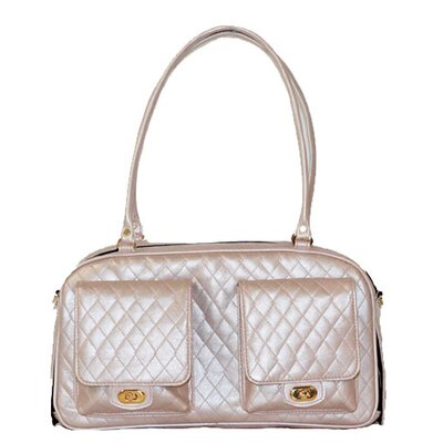 Peabody Quilted Pet Carier Color: Petal Pink