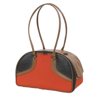 Roxy Classic Pet Carier Size: Small (9 H x 6.75 W x 16  L), Color: Orange and Tan