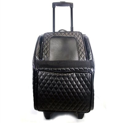 Maggiemae Quilted Luxe Pet Carier Color: Black