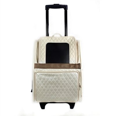 Rio Quilted Luxe Pet Carier Color: Ivory