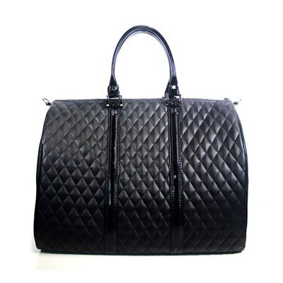 JL Duffel Quilted Luxe Pet Carier Size: Mini (10 H x 9 W x 14 L), Color: Black