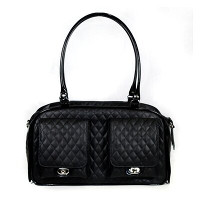 Marlee Quilted Pet Carier Color: Black