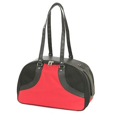 Classic Roxy Pet Carrier Size: Small (9 H x 6.75 W x 16 L), Color: Red Milan