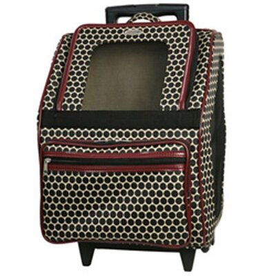 Rio Reverse Noir Dot Pet Carrier Color: Red