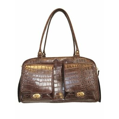 Peabody Croco Pet Carrier Color: Brown