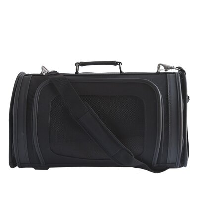 Petote Classic Kelle Black Pet Carrier Size: Large (10 H x 9.5 W x 18 L )