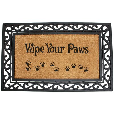Roseville Wipe Your Paws Doormat