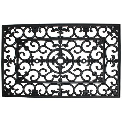 Wrought Iron Welcome Doormat Rug Size: 18 W x 30 L x 0.5 D