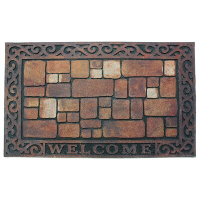 Welcome Stones Printed Flocked Doormat
