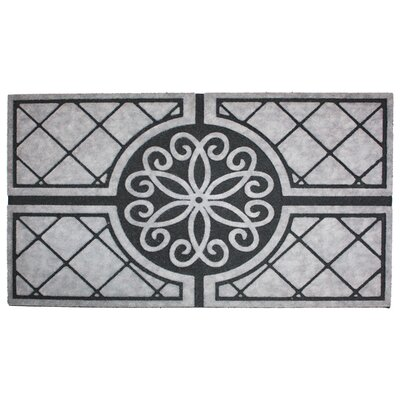 Medallion Granite Printed Flocked Doormat