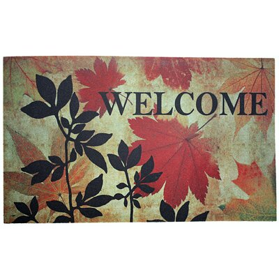 Welcome Leaves Printed Doormat