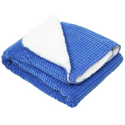 Corduroy Sherpa Fleece Throw Color: Blue