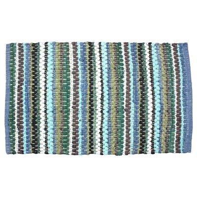 Chindi Stripe Doormat Color: Green