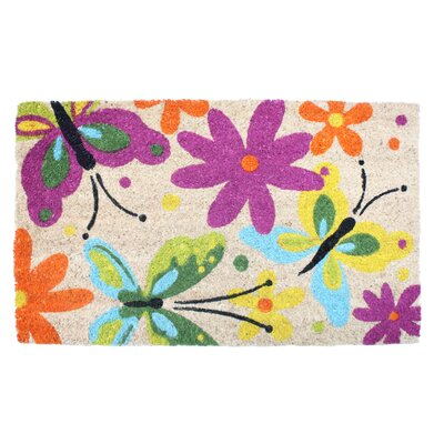 Flowers and Butterflies Doormat