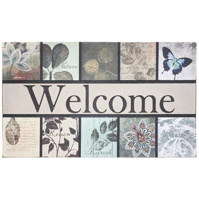 Botanical Garden Printed Flocked Doormat
