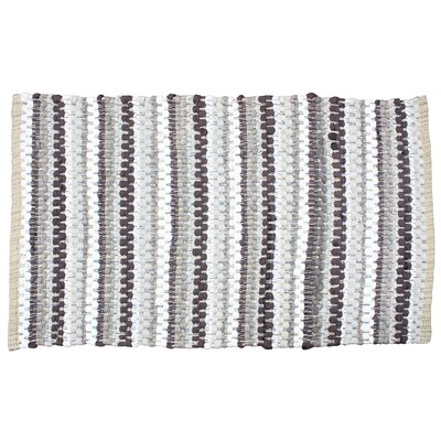 Chindi Stripe Doormat Color: Gray