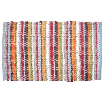 Chindi Stripe Doormat Color: Red