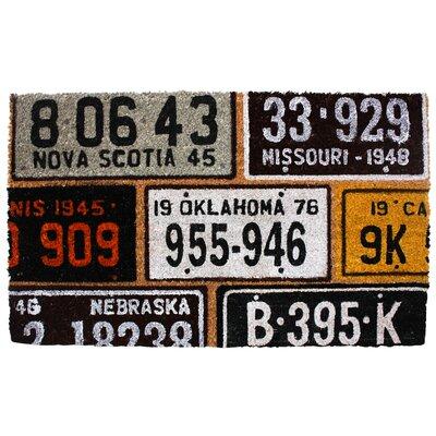 License Plates Doormat