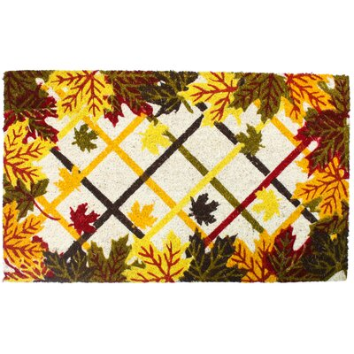 Harvest Lattice and Leaves Doormat