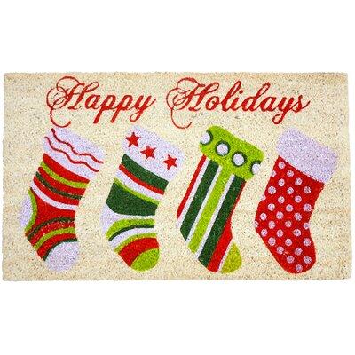 Christmas Stockings Doormat