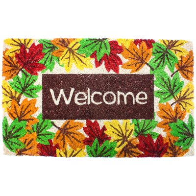 Harvest Welcome Leaves Doormat