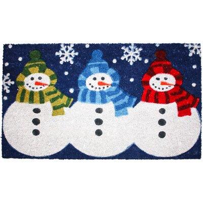Christmas 3 Snowmen Doormat