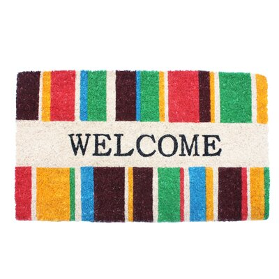 Welcome Stripes Doormat