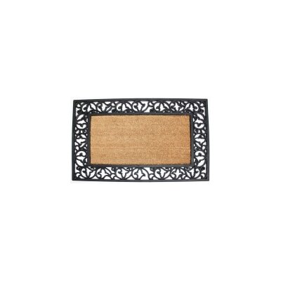Scroll Plain Doormat Rug Size: 2 x 3
