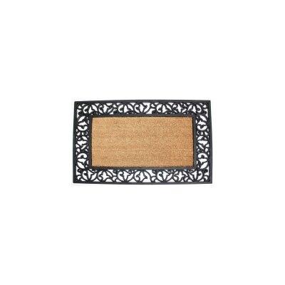 Scroll Plain Doormat Rug Size: 2 x 3