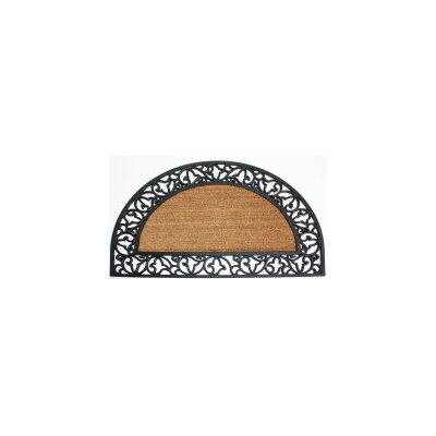 Scroll Plain Doormat Rug Size: Half Round 2 x 3