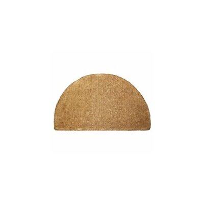 Plain Doormat Rug Size: Half Round 18 x 29