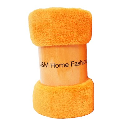Atkins Fuzzy Fleece Throw Color: Orange