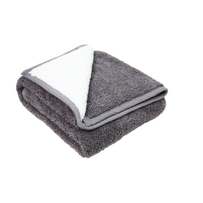 Plush Reversible Sherpa Throw Color: Gray