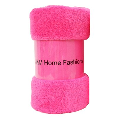 Bright Fuzzy Fleece Throw Color: Pink