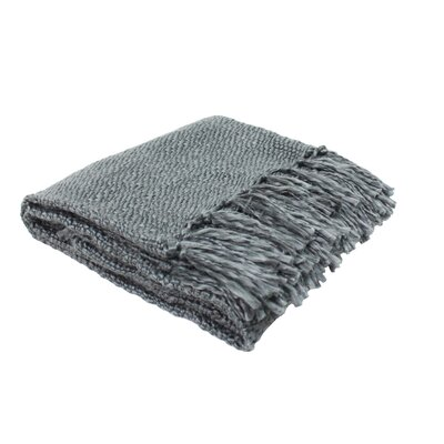 Luxury Weave Throw Color: Dark Gray