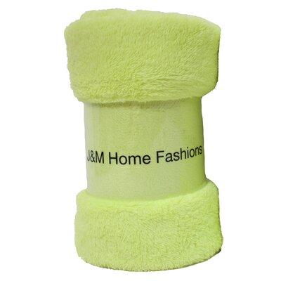 Atkins Fuzzy Fleece Throw Color: Lime Green