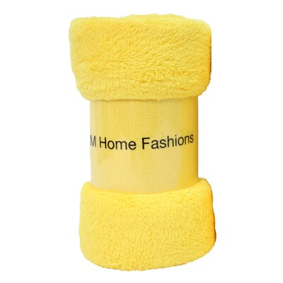 Atkins Fuzzy Fleece Throw Color: Yellow
